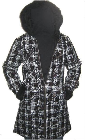 Celina Coat with plush hood Size S