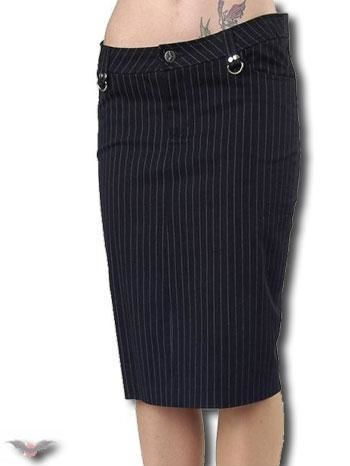 knee-length pinstripe skirt Gr.34