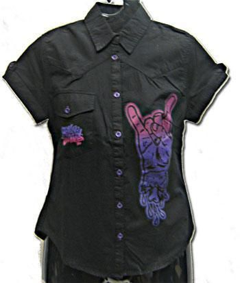 rock on shirt Gr. L