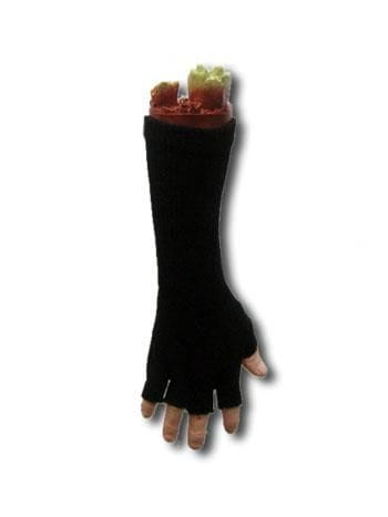 Long Fingerless Gloves Black