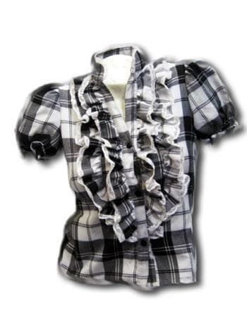 Checked ruffle blouse SZ.S