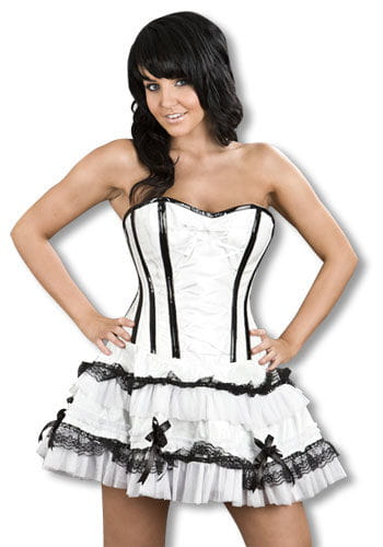 Vinyl Mini Dress white S