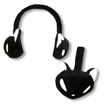 Earmuffs Kitty Black White
