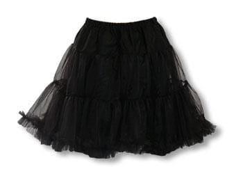 Tüll Petticoat schwarz