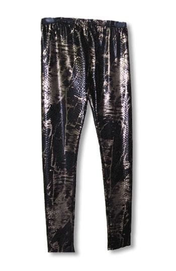 Schlangenhaut Leggings Gold L