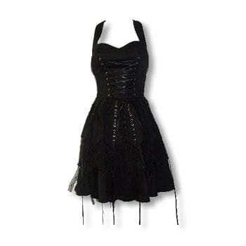 Black Gothic Lace Dress L