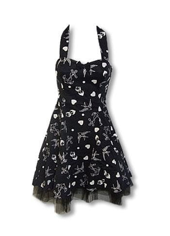 Rockabilly Tattoo Dress black S