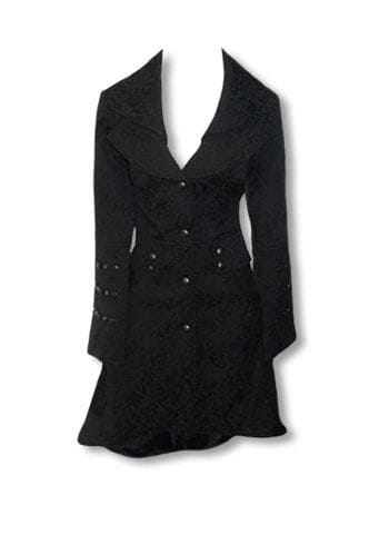 Gothic Brocade Coat Black
