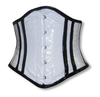 PVC Corset White and Black S