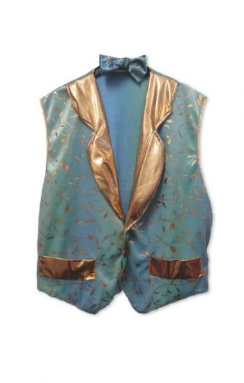 Elegant Waistcoat Blue/Gold