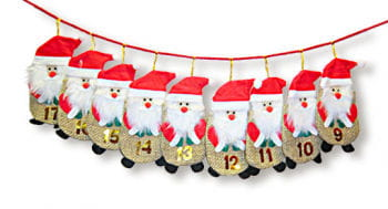 Advent Calendar Bags Santa Claus