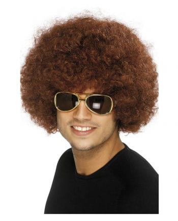 Afro Perücke Braun