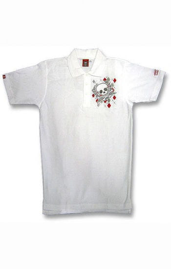 Argyl Diamond and Skull Polo Shirt S