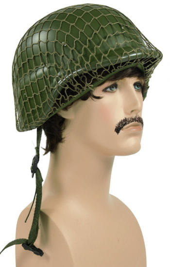 Army helmet with net premium