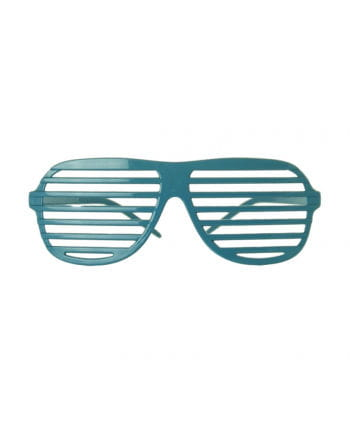 Atzen Brille Neonblau