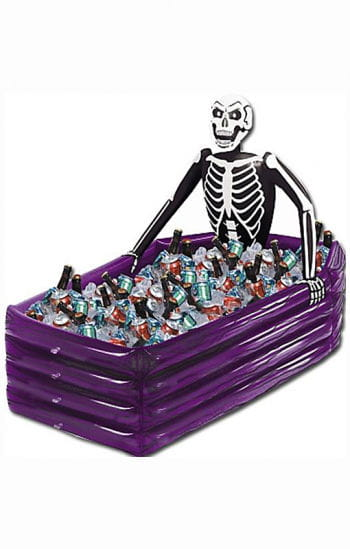 Inflatable skeleton beer cooler