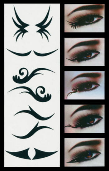 Eyeliner Augen Tattoo Party Style