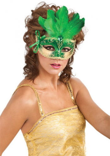Eye mask Feathery green