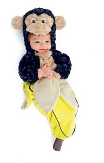 Baby-Äffchen in Bananenschale