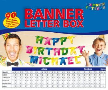 Banner Buchstaben Box