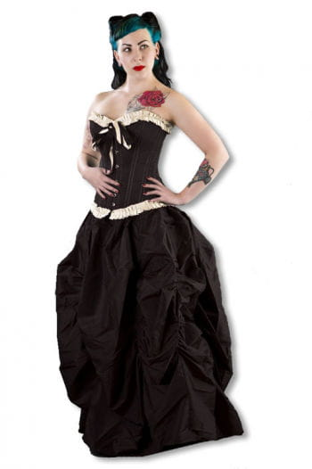 Elegant Overbust Corset with Ruffles