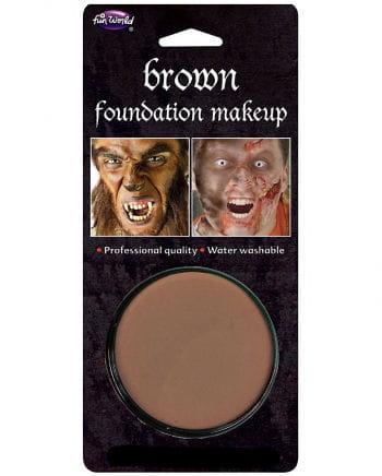 Halloween base makeup brown