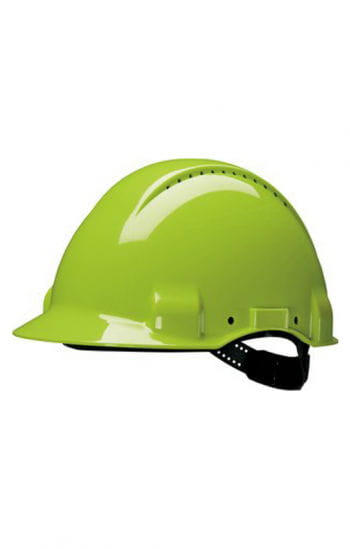 Construction helmet neon green