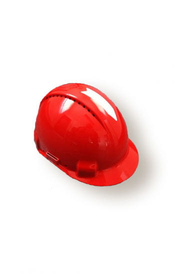 Original red construction helmet