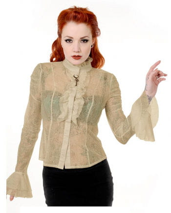 Steampunk Lace Blouse Beige