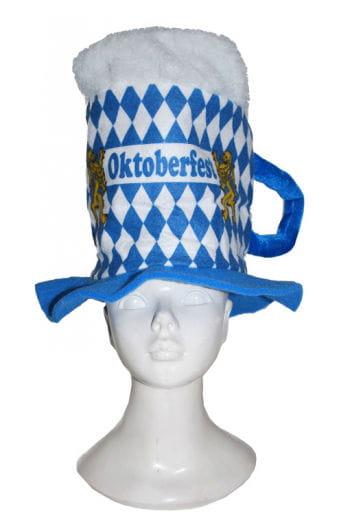 Bierkrug Hut mit Rautenmuster