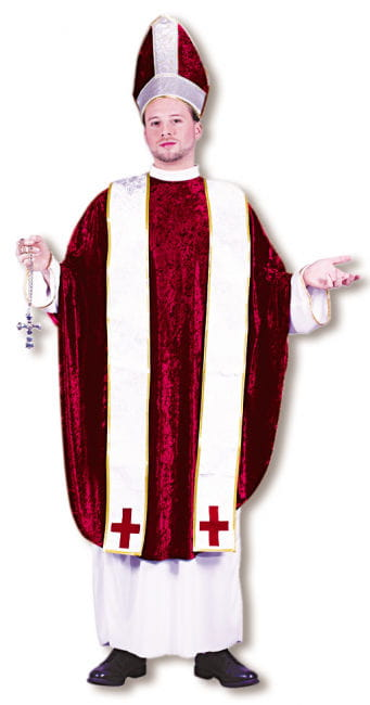 Bishop Costume White Red