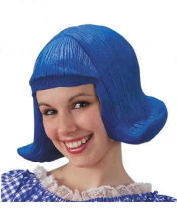 Comic Lady Wig Blue Latex