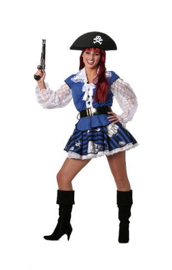 Blaues Piratenbraut Kostüm Plus Size