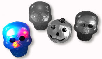 Flashing Skull Ring Blue