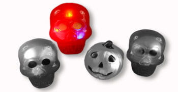 Flashing Skull Ring Red