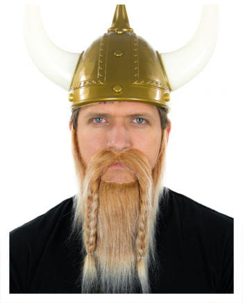Viking beard blond-white heather