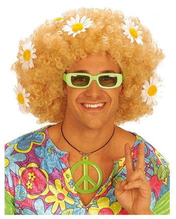 Flowerpower Afro Perücke Blond