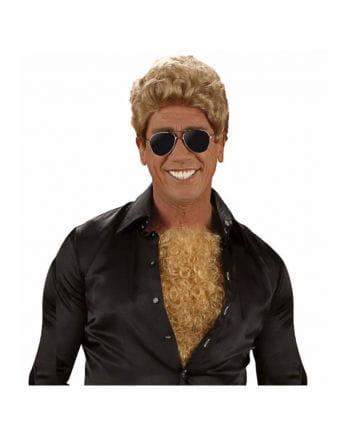Chest hair toupee blond