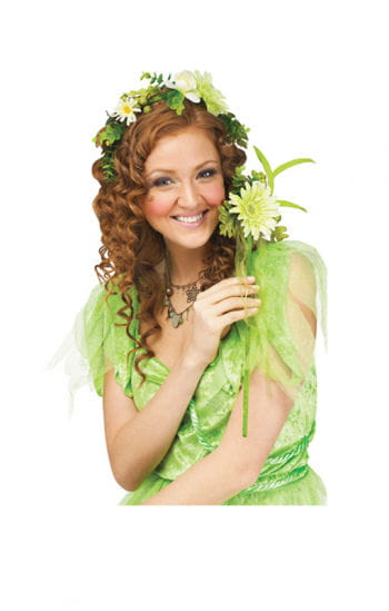 Set green flower fairy