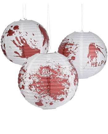 Bloody Halloween lanterns 6 Pack
