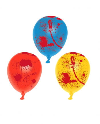 Bloody Halloween balloons 6 pieces