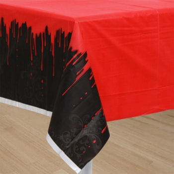 Bloody Halloween tablecloth with ornaments