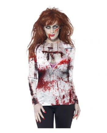 Bloody Zombie Girl Long Shirt
