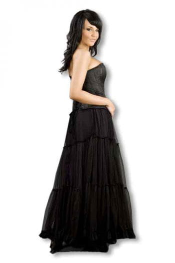 Long tulle skirt bottom