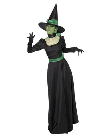 Böse Hexe Kostüm schwarz-grün