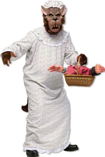 Evil Wolf in Grandma Costume