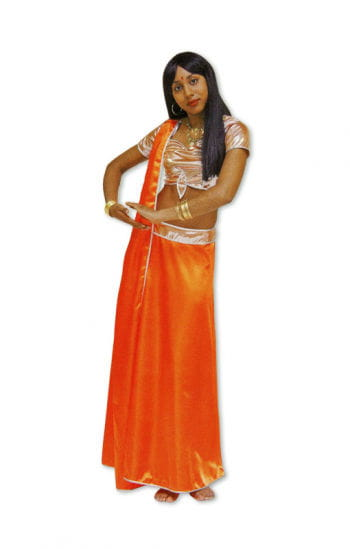 Bollywood costume orange