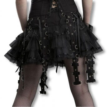 Bondagerock black with satin ribbons