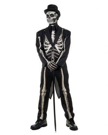 Skelett Anzug Kostüm Frack