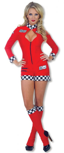 Pit Babe Catsuit Red